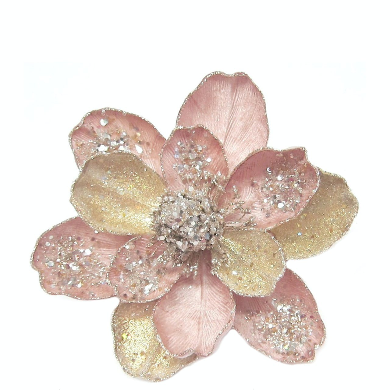 Ornate Rose Gold Magnolia Clip