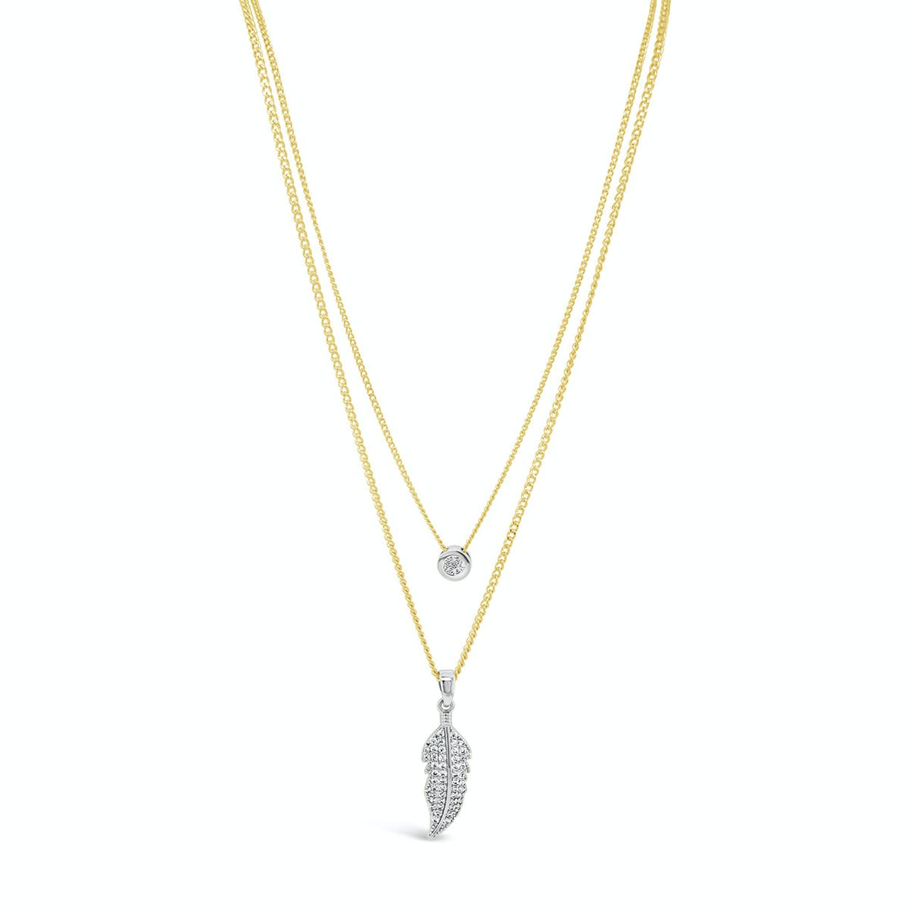 Absolute Gold Plated Double Layer Chain Necklace
