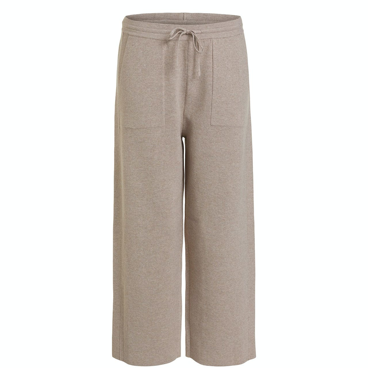 Oui Wide Leg Leisure Trousers Stone