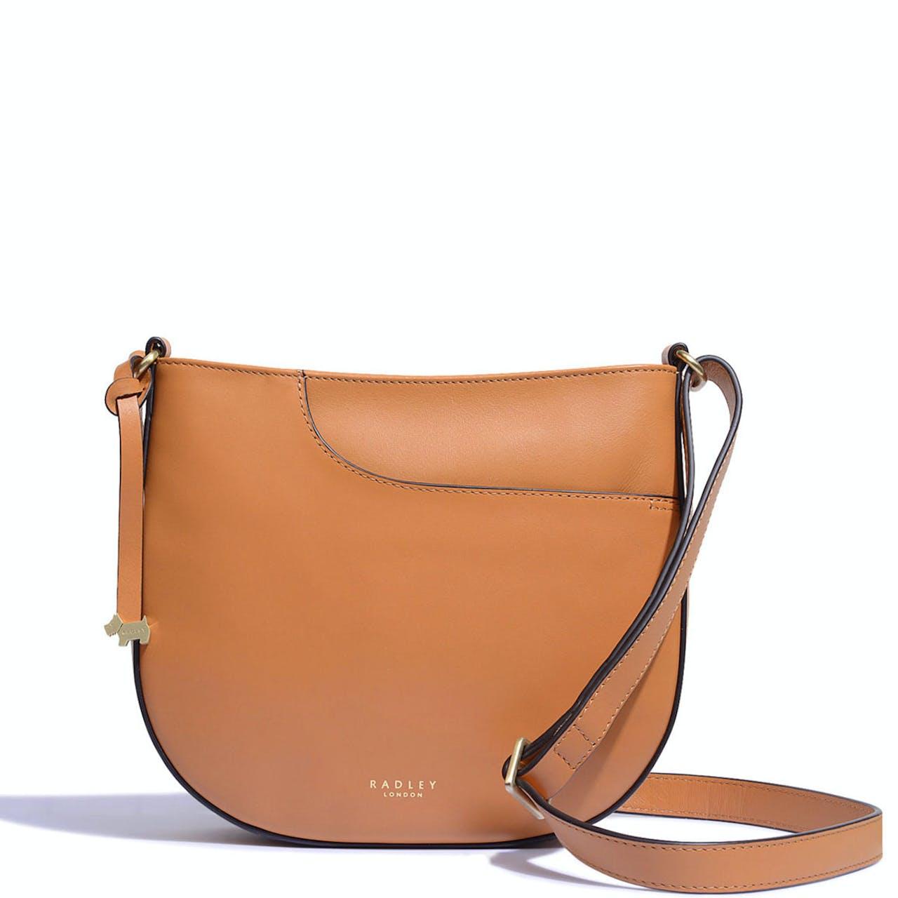 Radley London Pockets Medium Zip-Top Cross Body Bag Dark Butter