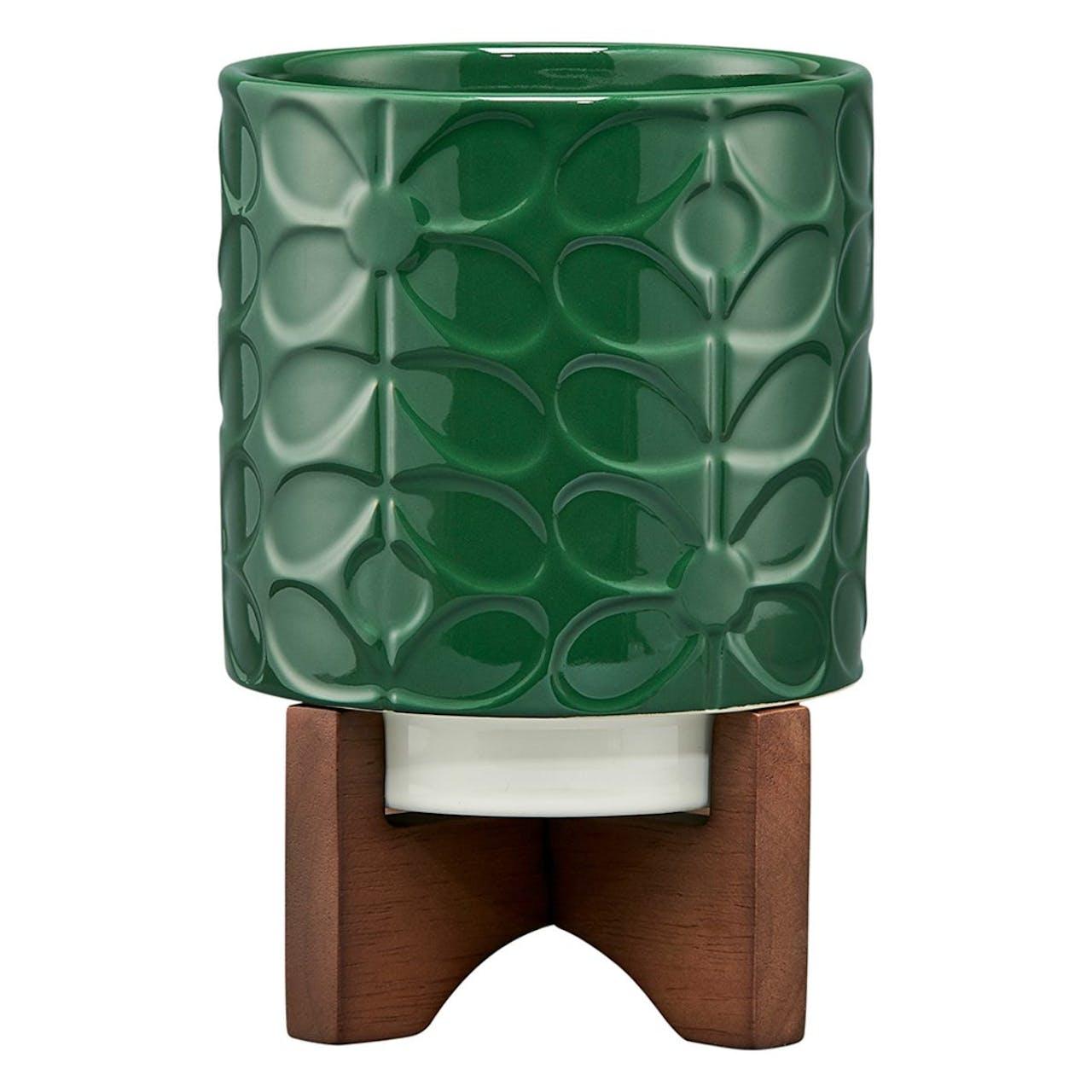 Orla Kiely Sixties Stem Jade Plant Pot With Box