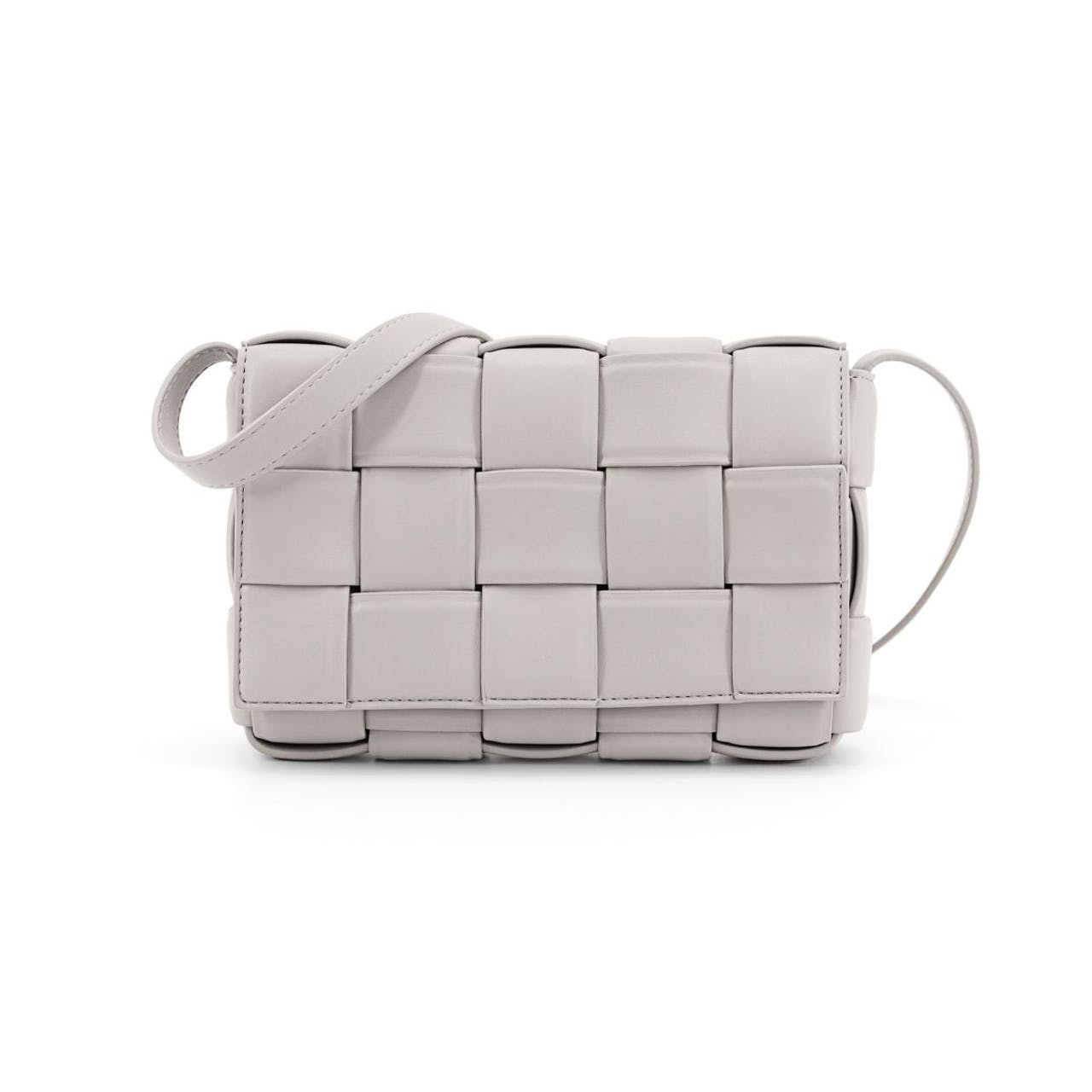 Tipperary Crystal Lyon Weave Grey Crossbody side