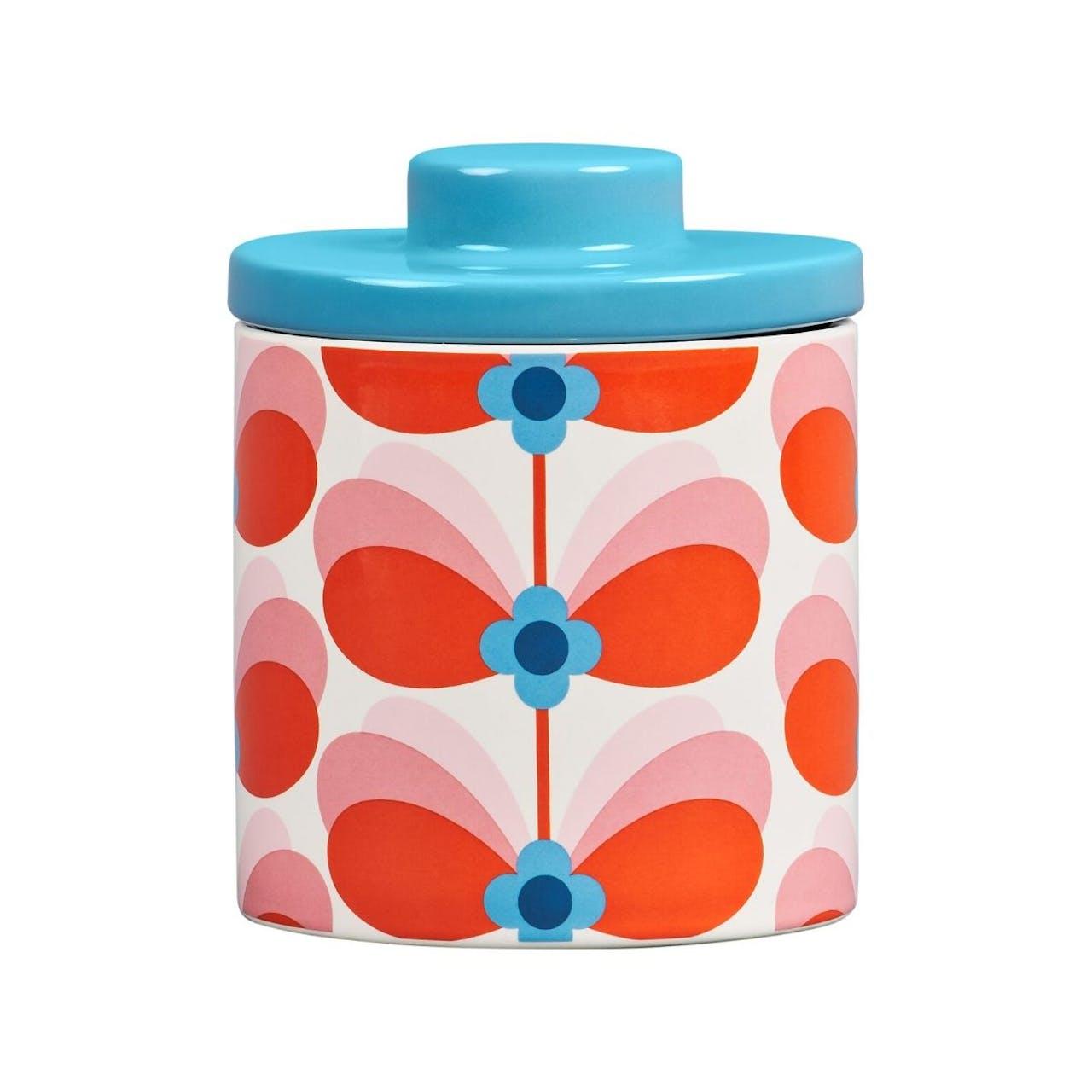 Orla Kiely Storage Jar - Butterfly Stem Bubble Gum