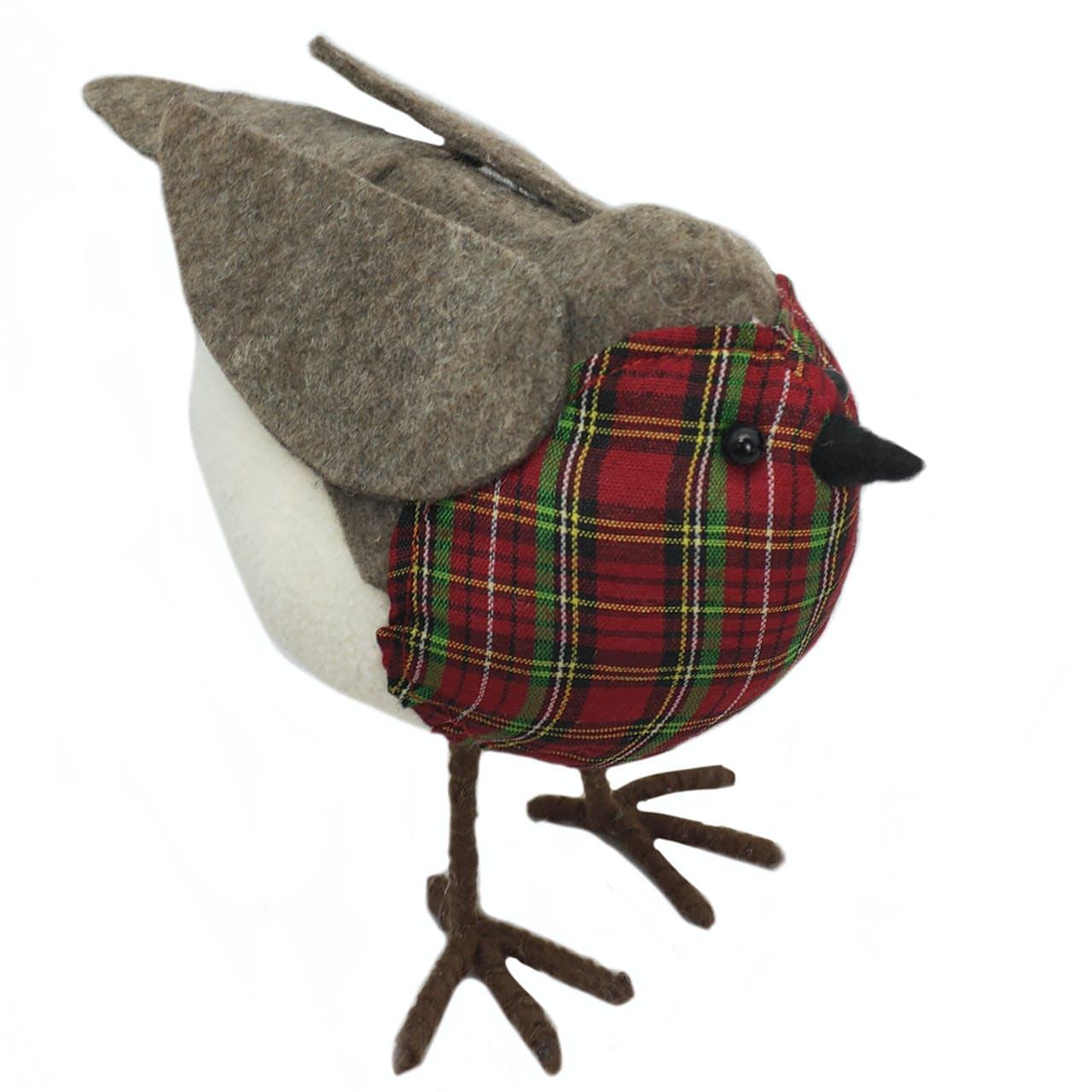 robin tartan breast decoration