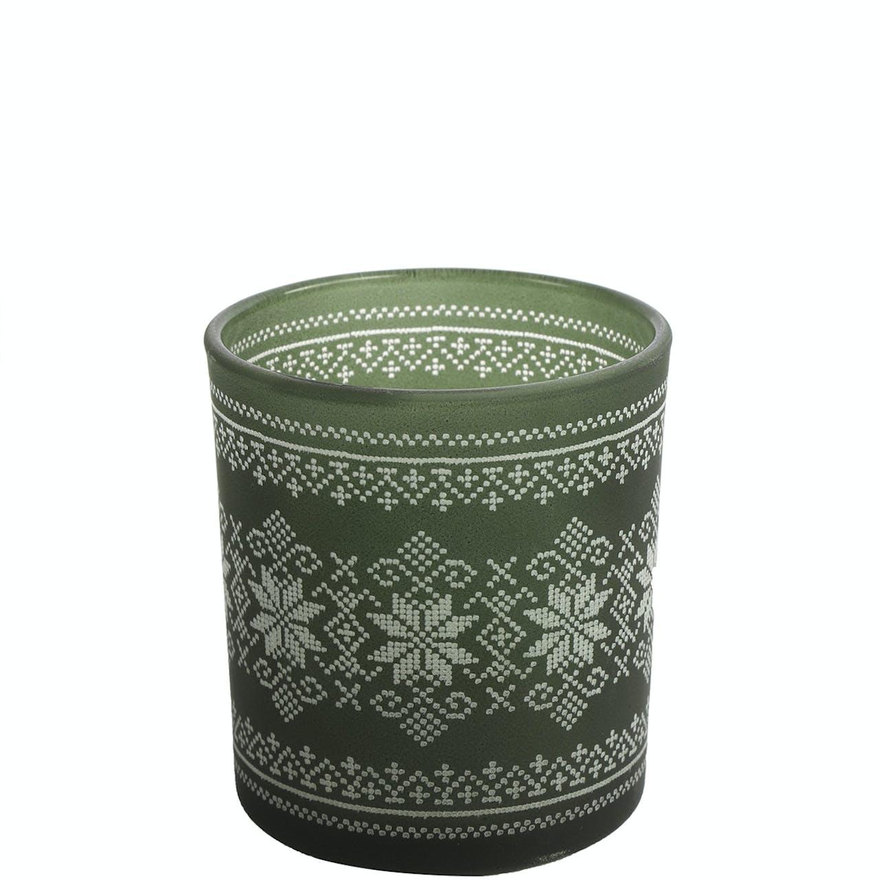 Green Glass Small Tealight Holder