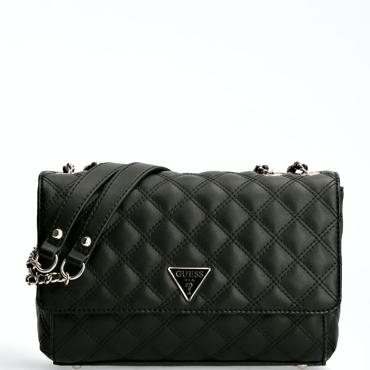 Guess Cessily Quilted Black Crossbody