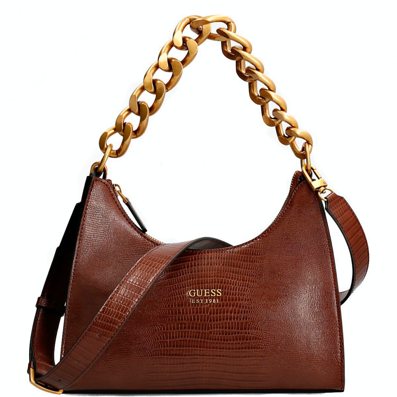 Guess Tullia Brown Hobo Bag