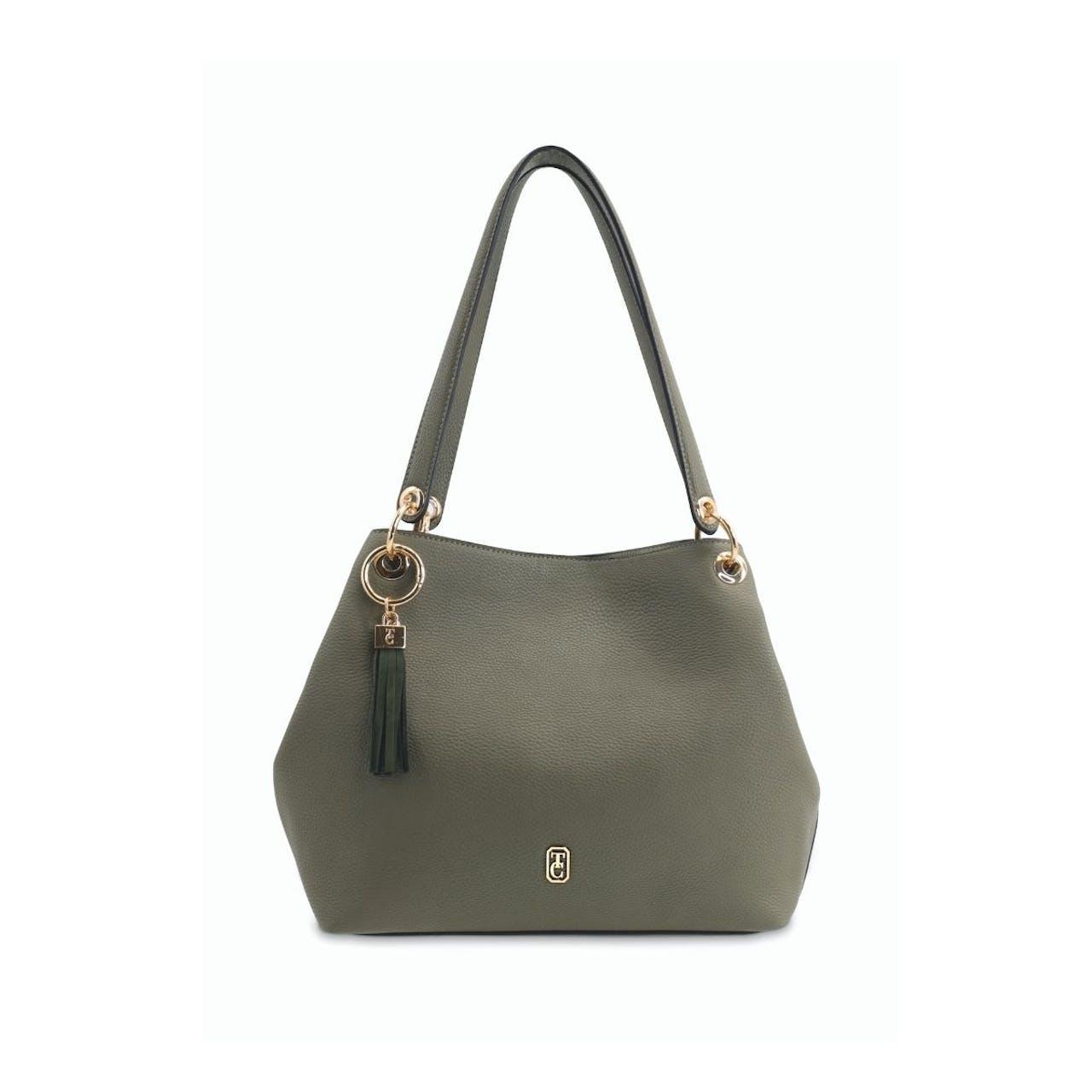 Tipperary Crystal Sicily Olive Shoulder Bag