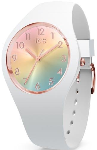 Cette montre ICE-WATCH se compose d'un boîtier Rond de 34 mm et d'un bracelet en Silicone Blanc