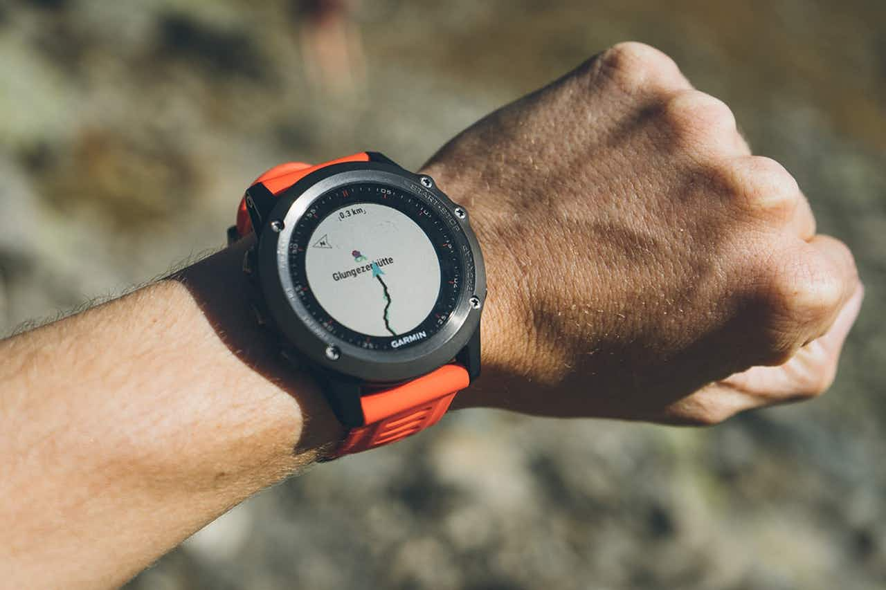 GPS Uhr beim Trailrunning