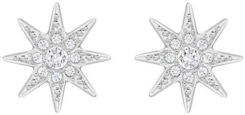 Puces SWAROVSKI en Métal et Cristal Blanc