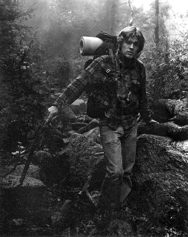 Mike Pfotenhauer, Gründer und Chefdesigner von Osprey, in den 70ern.