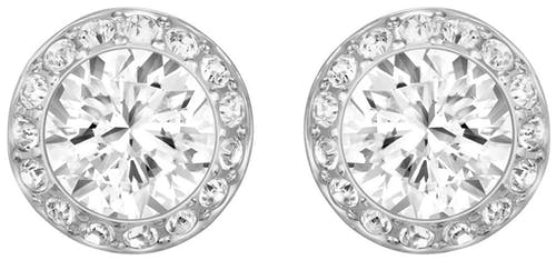 Ces Boucles d'oreilles SWAROVSKI sont en Métal et Cristal Blanc