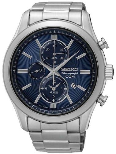 Cette montre SEIKO se compose d'un Boîtier Rond de 44.6 mm et d'un bracelet en Acier Gris