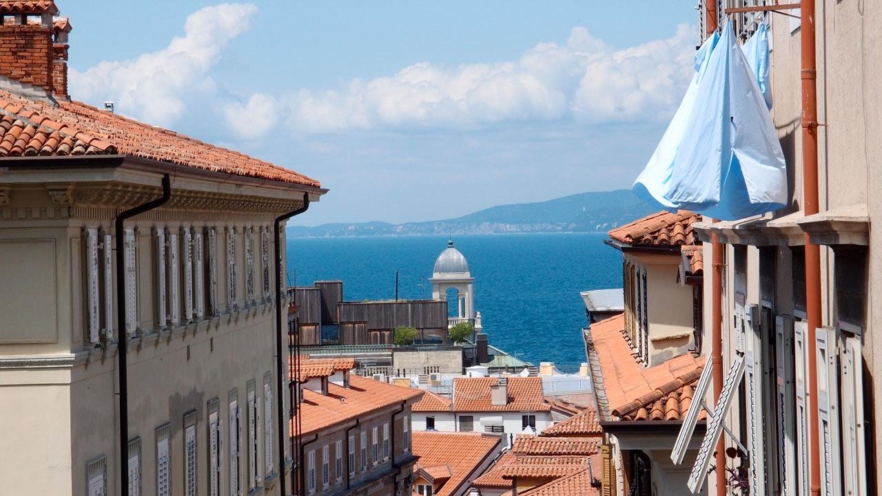 Ausblick von einem Balkon