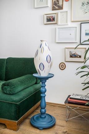 Bodenvase KRUKENFORM im Dekor Tropfen, Atelier Edition