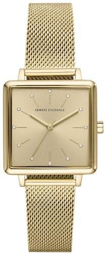 Cette montre ARMANI EXCHANGE se compose d'un boîtier Rond de 30 mm et d'un bracelet en Maille milanaise Jaune