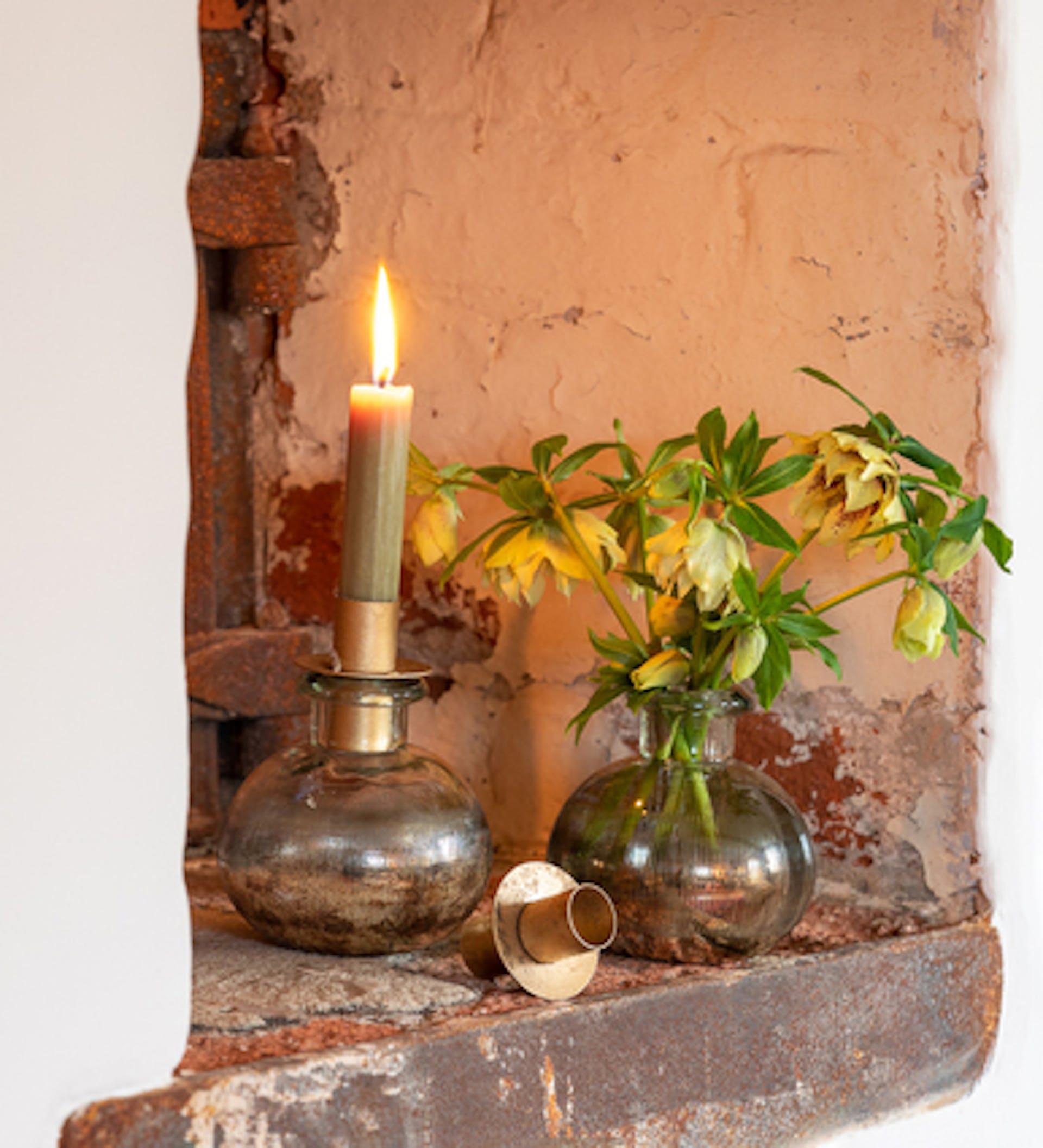 Iridescent Candle & Vase Set