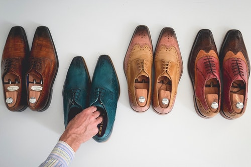 Multicoloured leather men's shoes Melvin & Hamilton