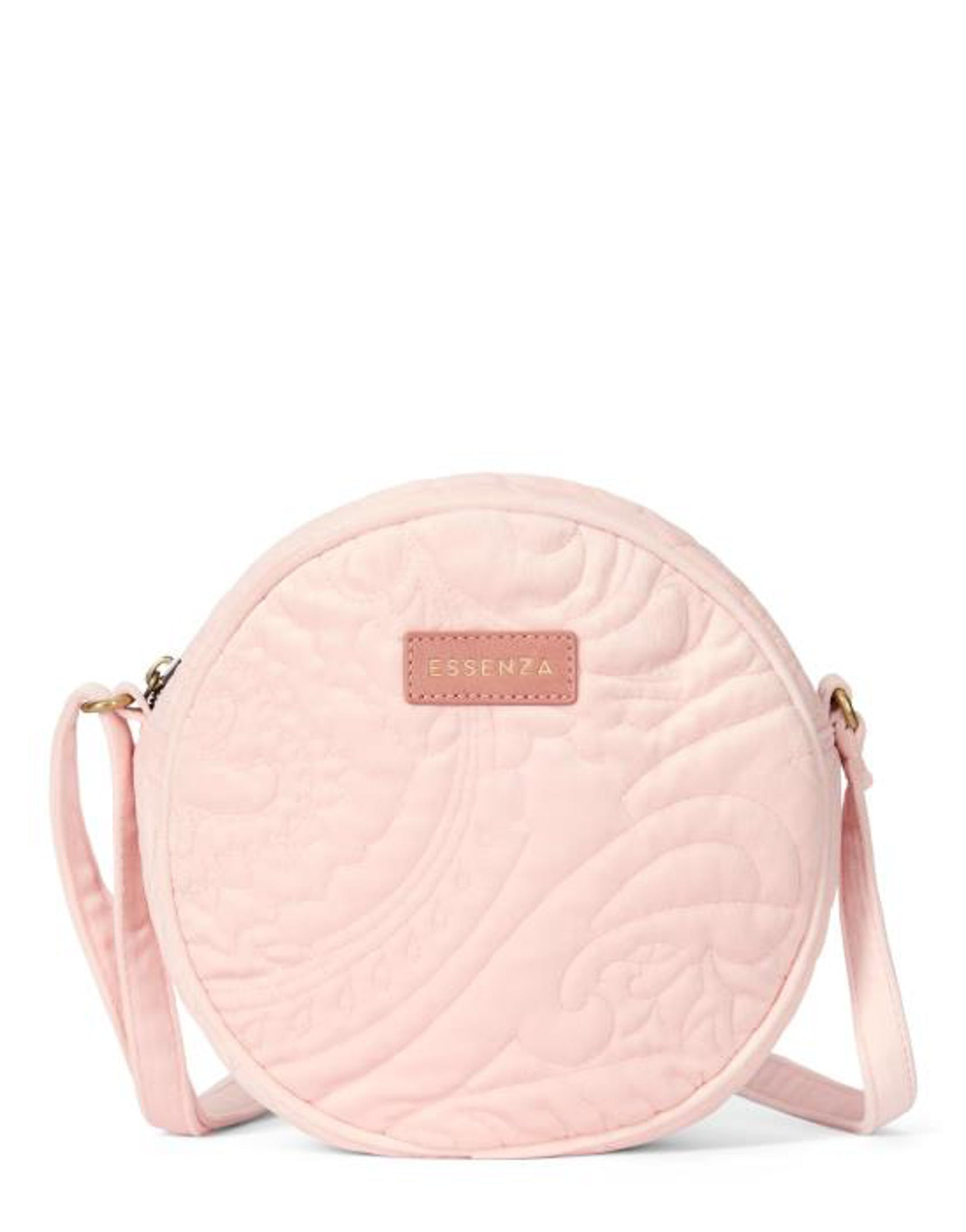 ESSENZA Reese Velvet  Shoulder Bag Blush
