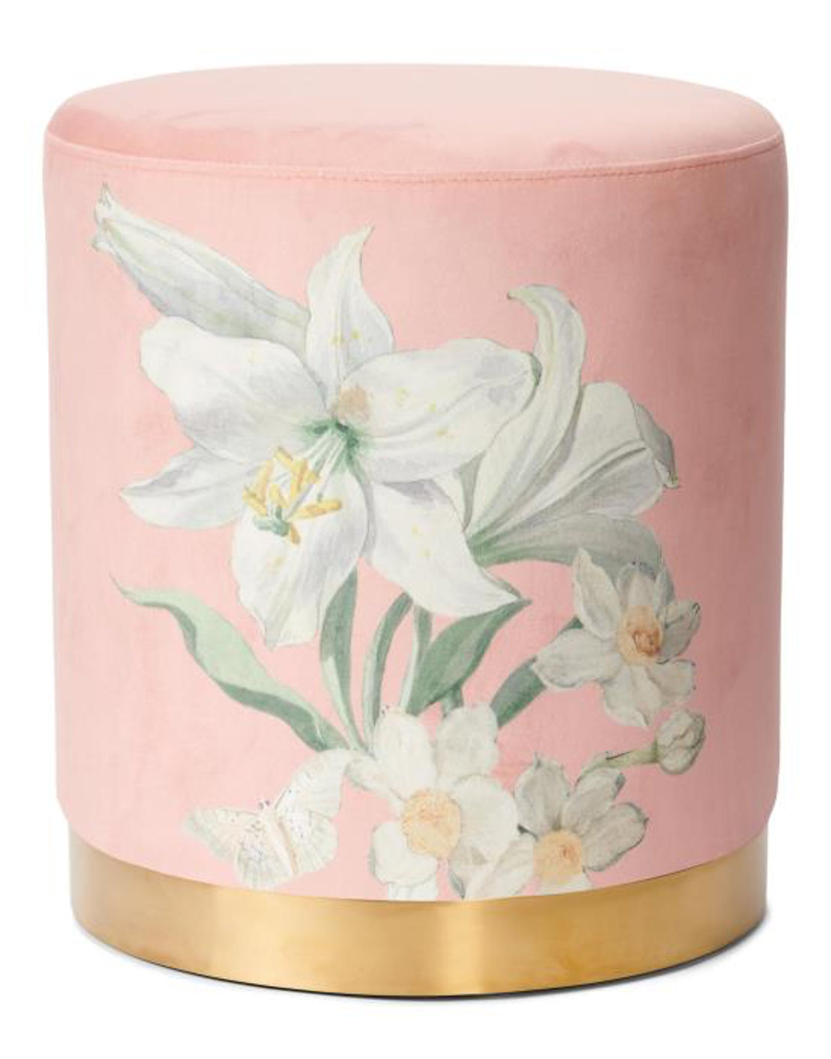 ESSENZA Rosalee  Pouf Dark Blush
