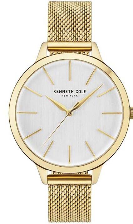Montre KENNETH COLE MADISON Femme avec Boîtier Rond 38 mm et Bracelet Acier Jaune