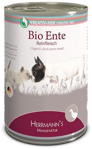 Herrmann's - Nassfutter - Bio-Ente Reinfleisch (getreidefrei)