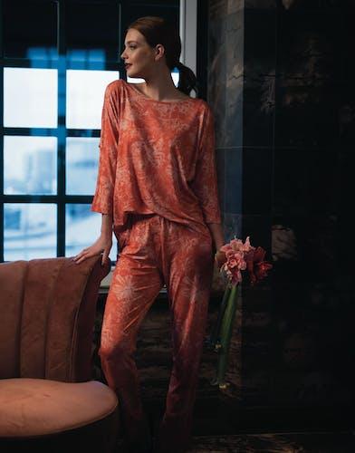 ESSENZA Vivienne Pyjama Chili