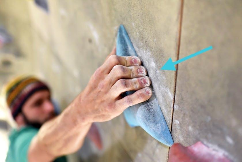 Richtige Griff beim Bouldern