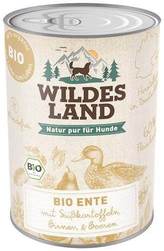 Wildes Land - Nassfutter - Bio Ente mit Süßkartoffeln (getreidefrei)