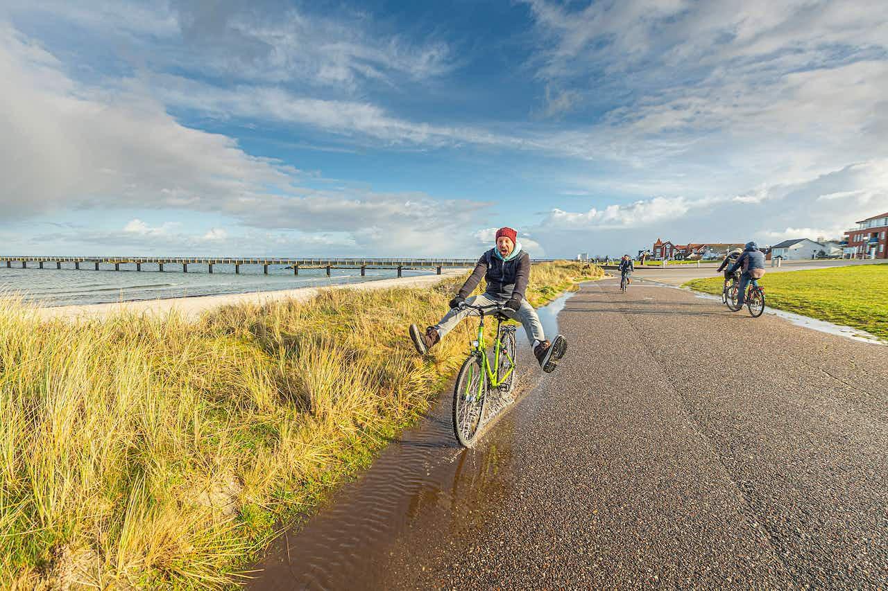 Radfahren an der Ostsee