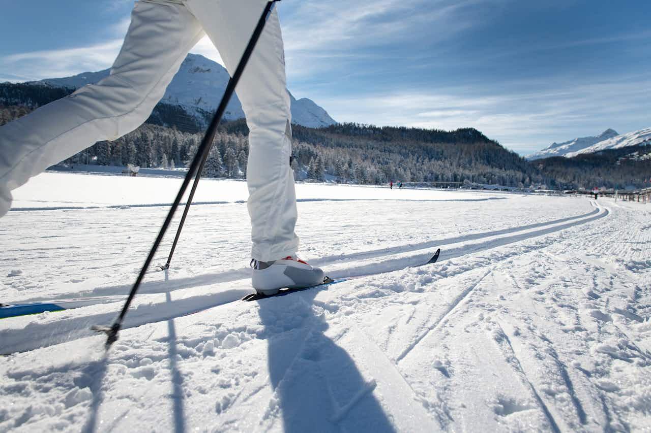 Skilangläuferin