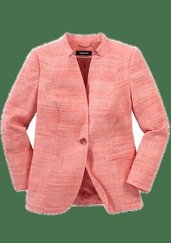 Blazer in Flamingo mit dezentem Farbverlauf und Knopf.