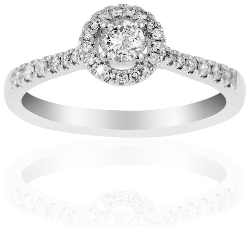 Solitaire LADY DIAMONDS LA PROMESSE en Or 750/1000 Blanc et Diamant