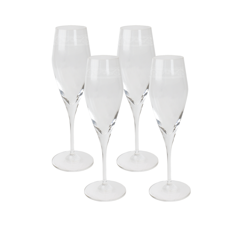 Champagnerglas-Set 4, KURLAND
