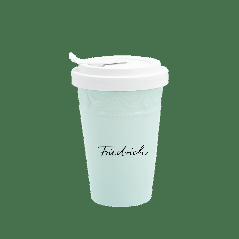 To-go Becher, KURLAND, Pastellgrün, Individualisiert