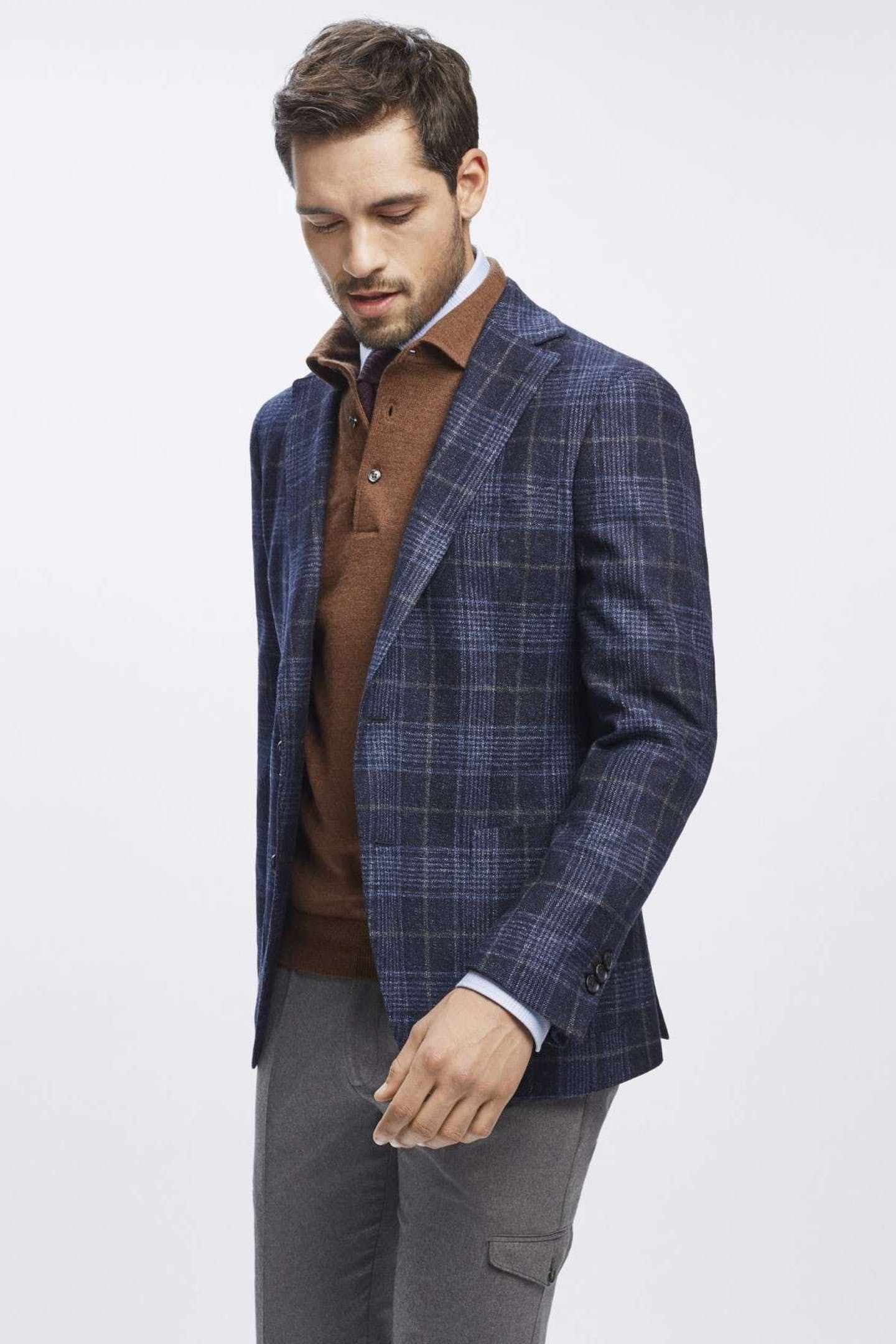 Prince of Wales fabric: How to wear glen plaid boggi milano blue jacket