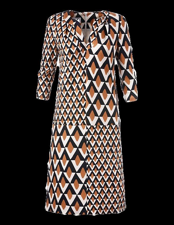 Kleid im Grafik-Patchdessin
