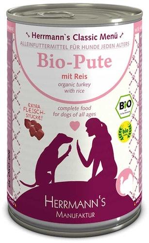 Herrmann's - Nassfutter - Bio-Pute mit Reis (glutenfrei)