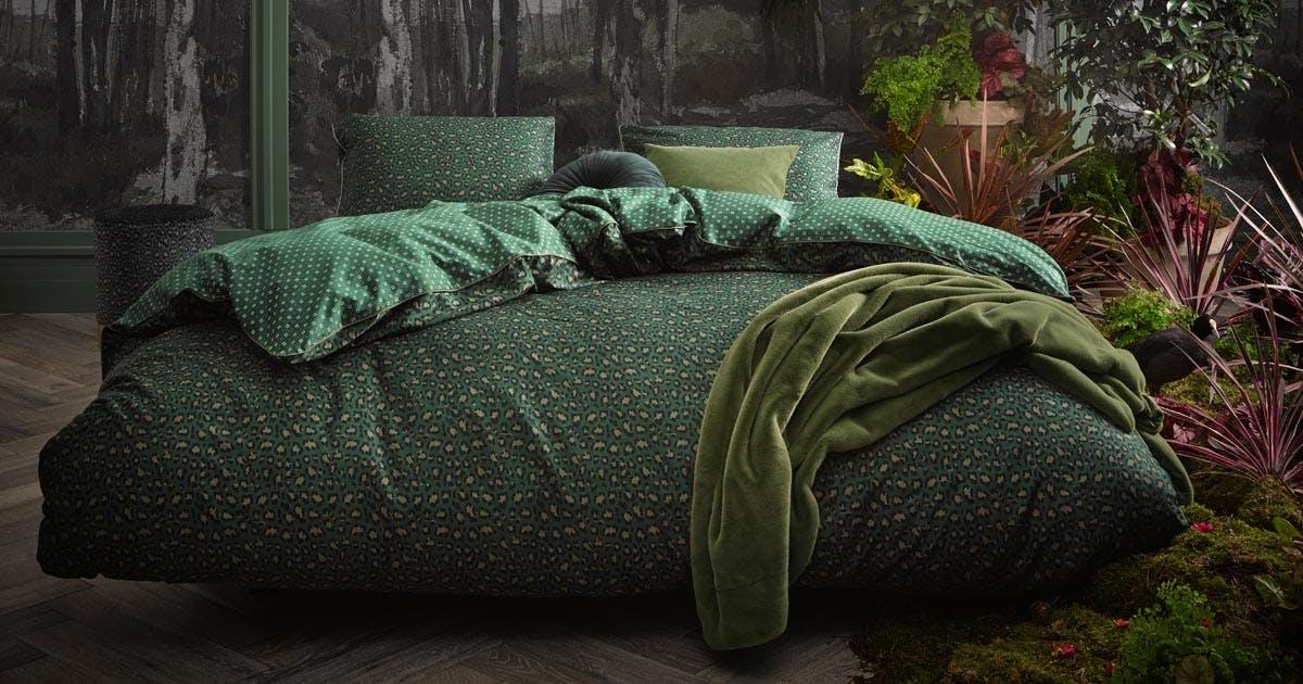 ESSENZA Bory Duvet Cover Green