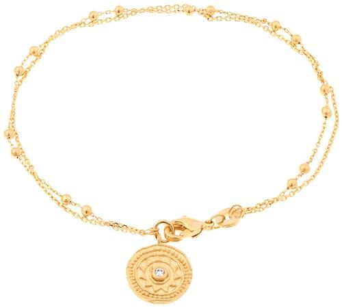 Ce Bracelet YUCATÁN est en Plaqué Or Jaune et Oxyde