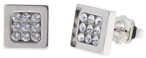 Ces Boucles d'oreilles LES INTERCHANGEABLES sont en Laiton et Cristal Blanc