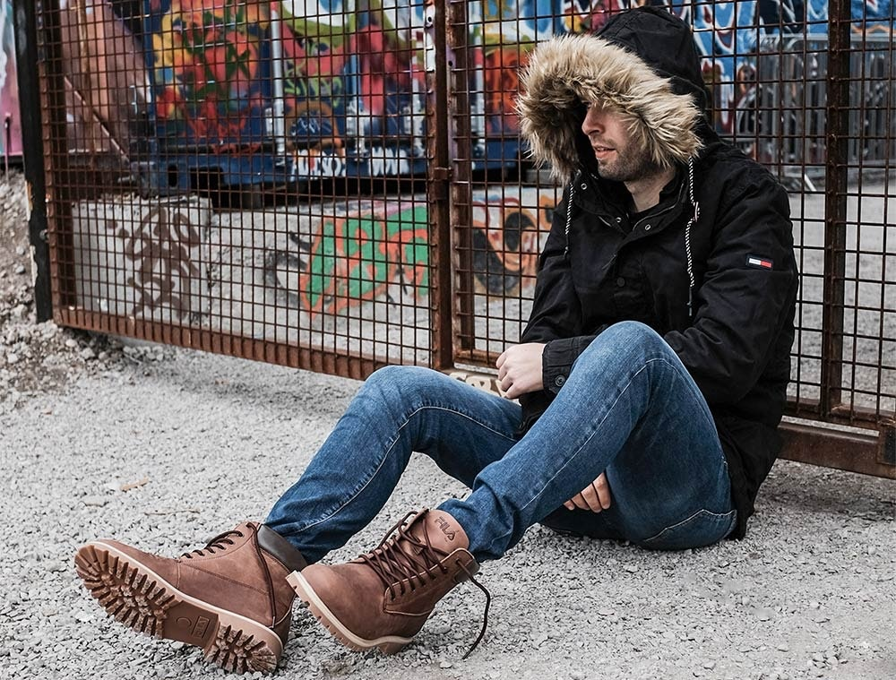 Braune Fila Workboots