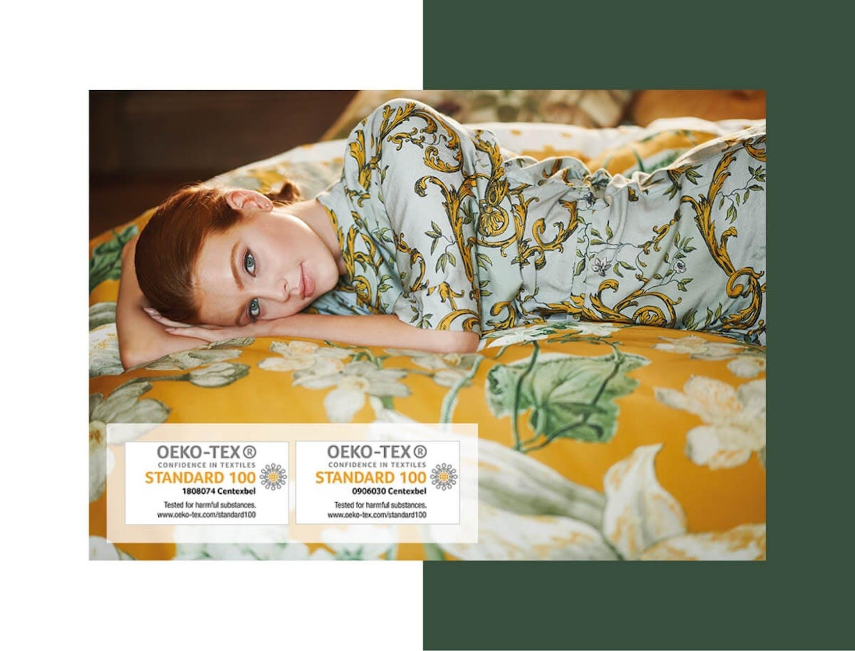 Unsere Textilien sind Öko-Tex-zertifiziert oder erfüllen die Anforderungen von REACH