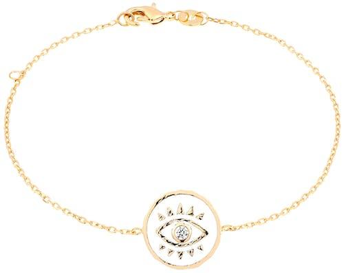 Ce Bracelet YUCATÁN CONSTELLATION est en Plaqué Or et Oxyde Blanc.