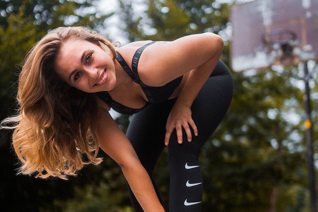 Sophia Flörsch bei der Vorbereitung auf den Marathon