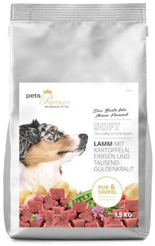 pets Premium - Trockenfutter - Soft Lamm mit Kartoffeln, Erbsen und Tausendgüldenkraut (getreidefrei)