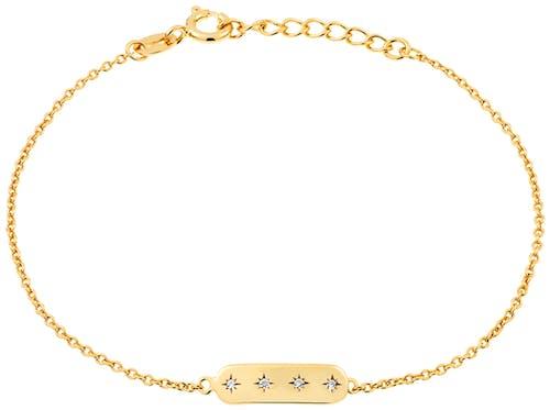 Ce Bracelet SOLIS est en Argent 925/1000 Jaune et Oxyde Blanc