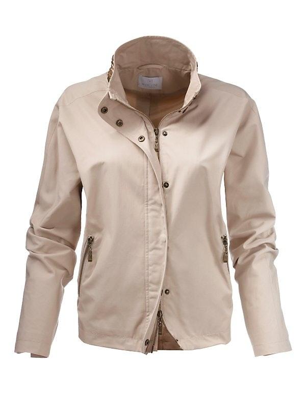 Weite Jacke mit Stehkragen