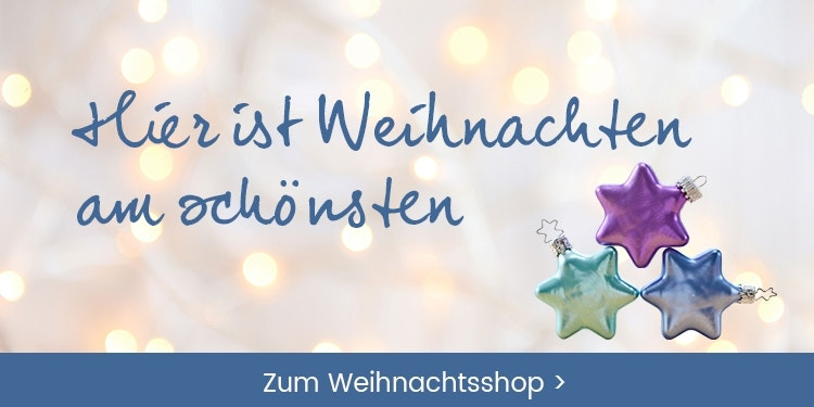 Weihnachtsshop mit vielen Geschenkideen und Adventdeko-Ideen